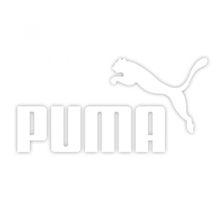 Puma lipdukas be fono 15 x 8 cm