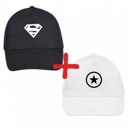 2 vnt. kepurių: Superman + Star